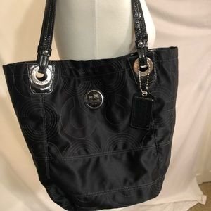 Coach Black Fabric Tote Bag